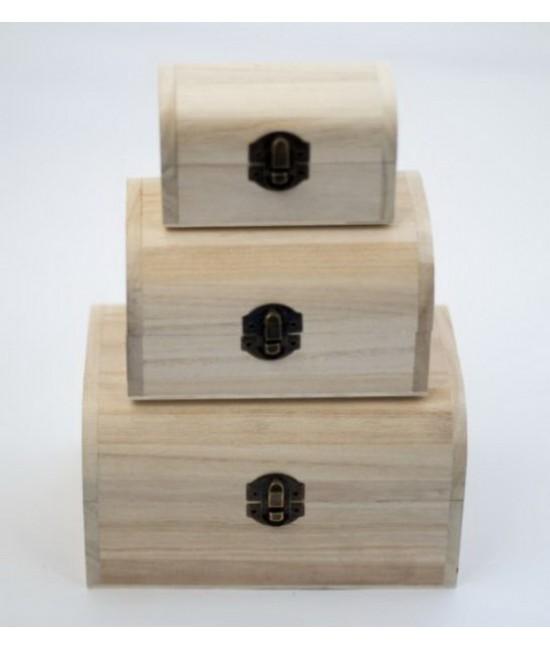 set 3 cutii bijuterii din lemn