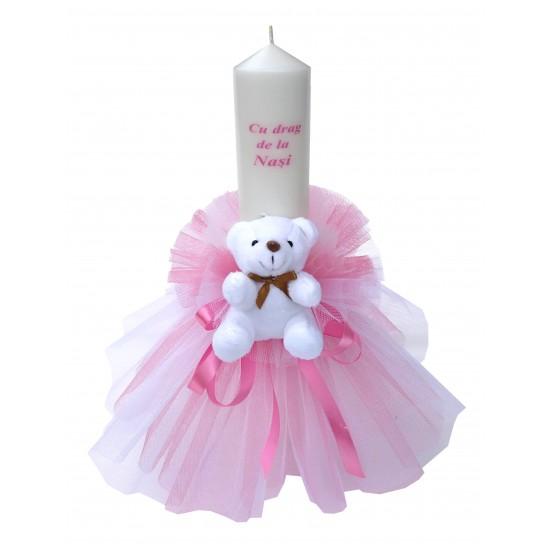Lumanare ursulet Cu Drag de la Nasi roz