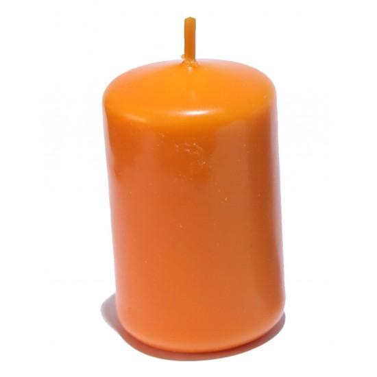 lumanare stalp mic portocaliu